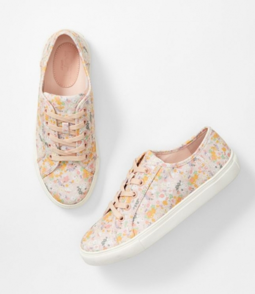 Loft Floral Lace Up Sneakers Trainer