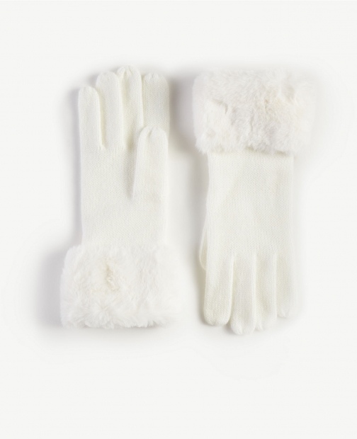 Ann Taylor Faux Fur Trim Glove