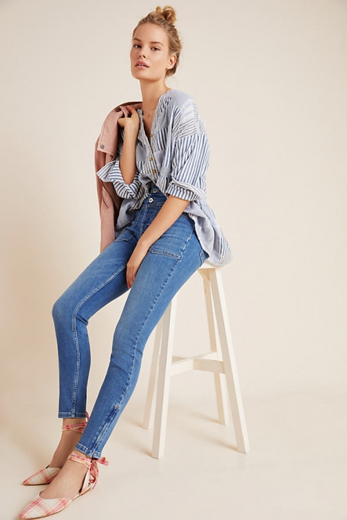 Pilcro And The Letterpress Pilcro Ultra High-Rise Seamed Skinny Jeans