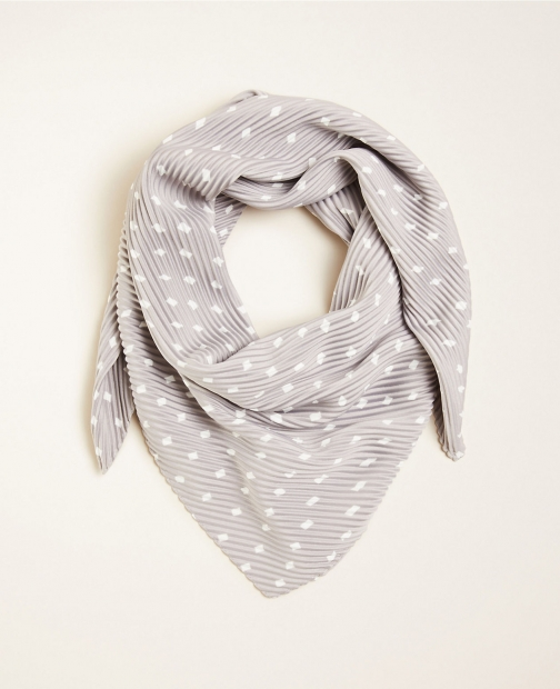 Ann Taylor Dot Pleated Scarf