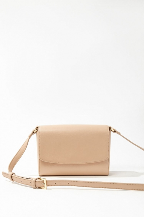 Forever21 Forever 21 Faux Leather , Taupe Crossbody Bag