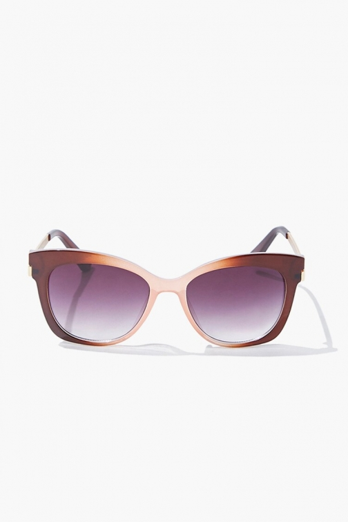 Forever21 Forever 21 Ombre Tinted , Brown/multi Sunglasses