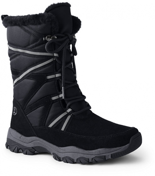 Lands' End Women's Expedition Insulated Winter - Lands' End - Black - 6 Snow Boot