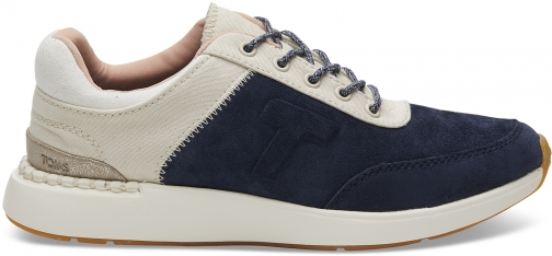 Toms Navy Suede And Canvas Women's Arroyo Sneakers Shoes Trainer