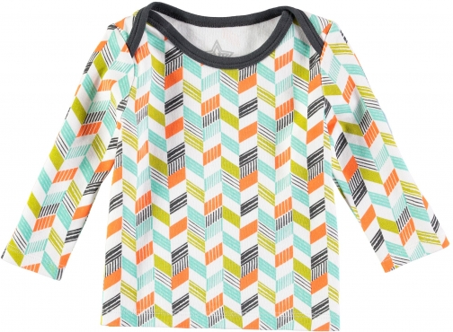 House Of Fraser Rockin' Baby Boys Long Sleeve Grey Chevron Print T-Shirt