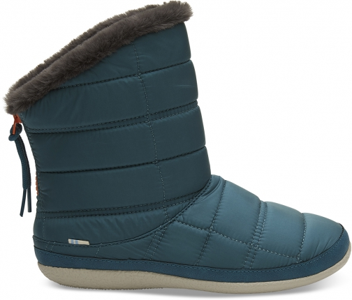 Toms Stellar Blue Quilted Women's Inez Ankle Boot