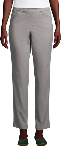 Lands' End Women's Mid Rise Pull On Ankle Pants - Lands' End - Gray - 2 Chino