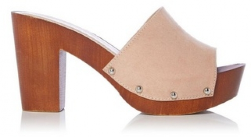 Head Over Heels By Dune Nude 'Janna' Ladies Mid Heel Sandals