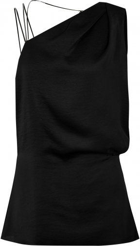 Reiss Adalee - Strappy Back Top Black, Womens, Size 10 Shirt