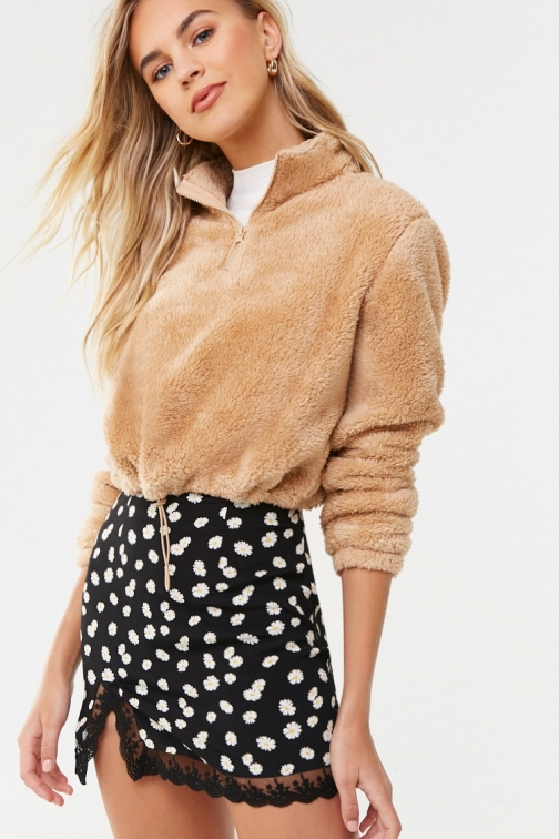 Forever21 Forever 21 Faux Fur , Taupe Pullover