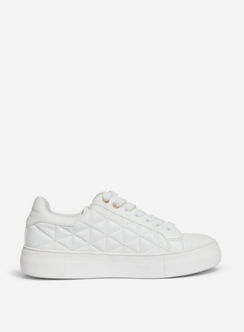Lola Skye 'Lizzie' White Quilted Trainer
