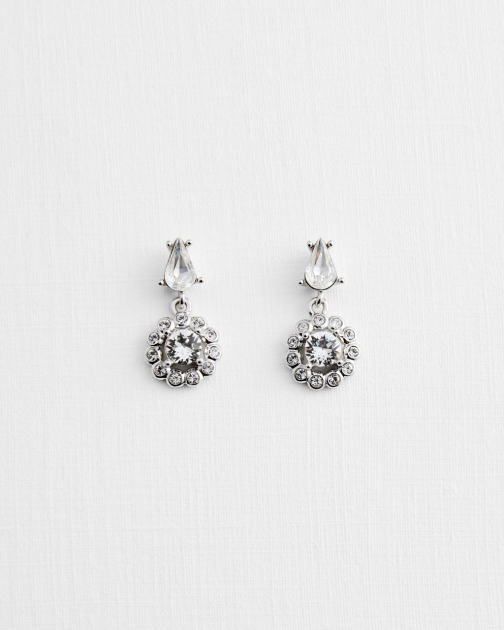 Ted Baker Crystal Drop Daisy Earring