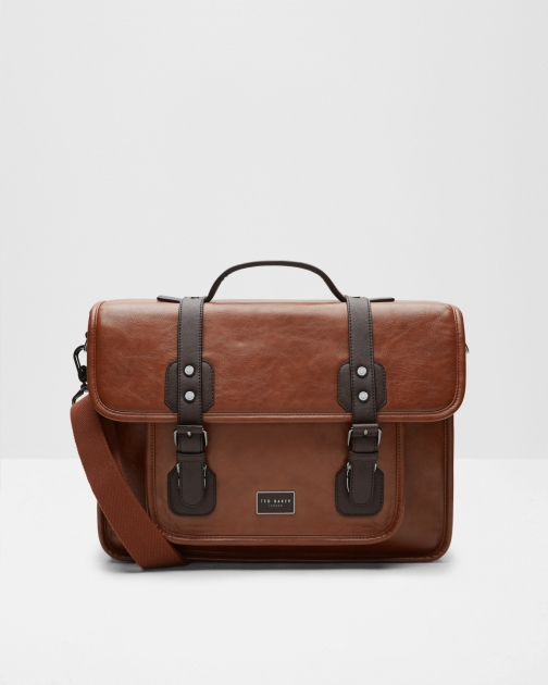 Ted Baker Detachable Strap Tan Satchel