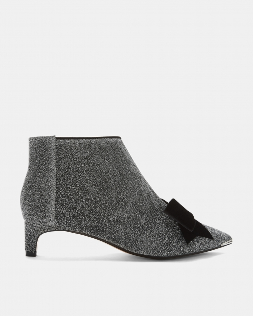 Ted Baker Lurex Bow Kitten Heel Boot