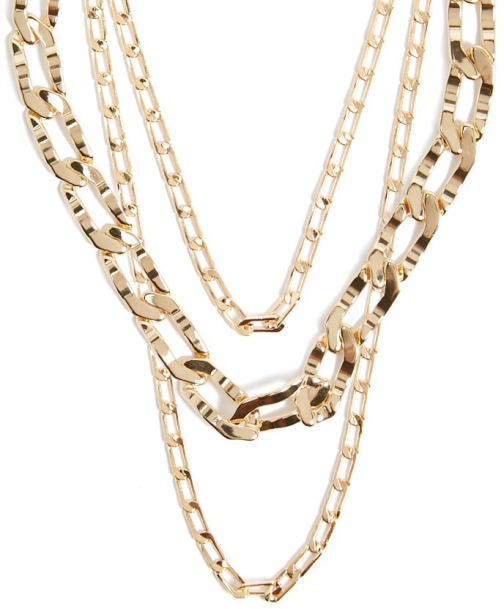 Forever21 Forever 21 Curb Chain Necklace Set , Gold Jewellery