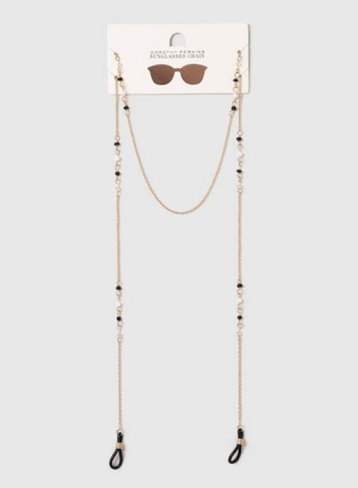 Dorothy Perkins Gold Beaded Chain Sunglasses