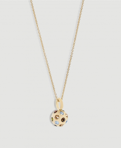 Ann Taylor Jeweled Ball Pendant Necklace