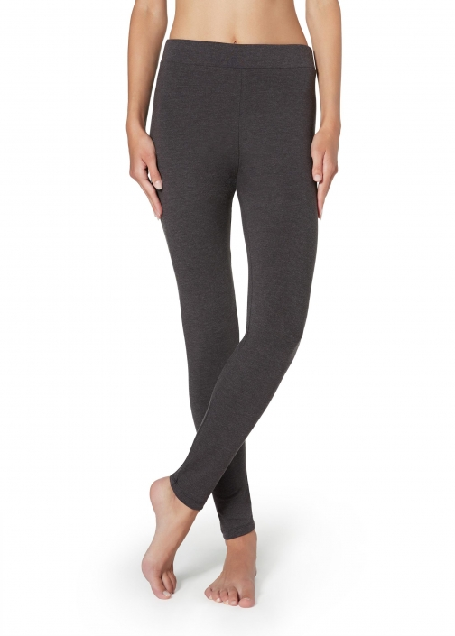 Calzedonia - Thermal , L, Grey, Women Legging
