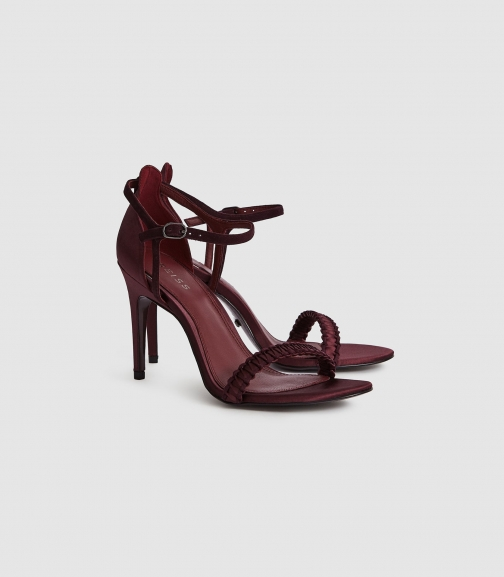 Reiss Linette - Woven Strappy Pomegranate, Womens, Size 4 Sandals