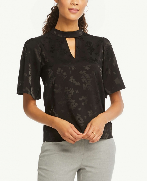 Ann Taylor Floral Top Chokers