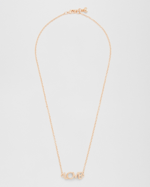 Ted Baker LOVE/KISS Rose Gold Necklace