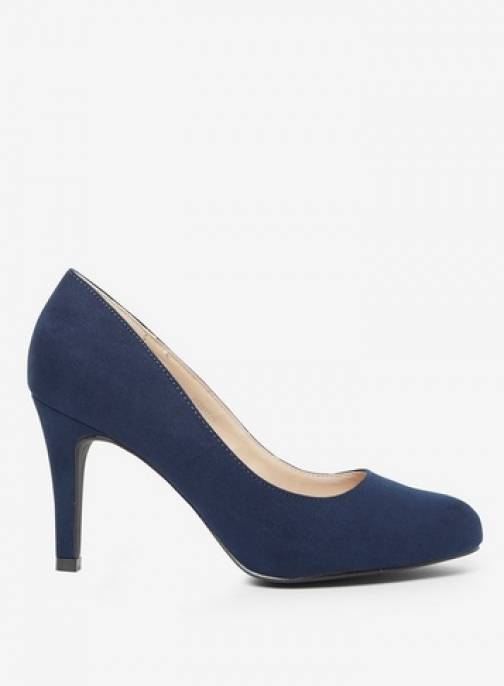 Dorothy Perkins Womens Wide Fit Navy 'Dallas' Court - Blue, Blue Shoes