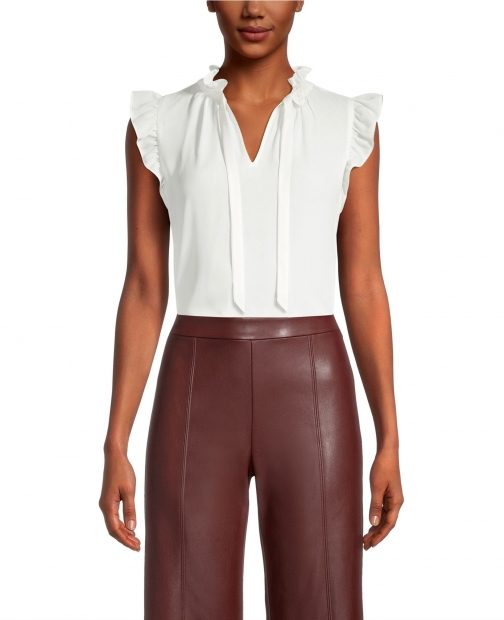 Ann Taylor Factory Petite Tie Neck Shell Top