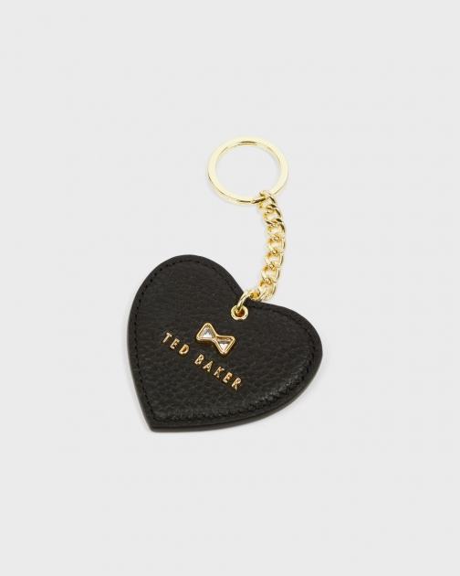 Ted Baker Crystal Bow Detail Heart Key Charm