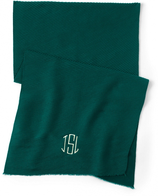 Lands' End Women's Pleated CashTouch Winter - Lands' End - Green Scarf