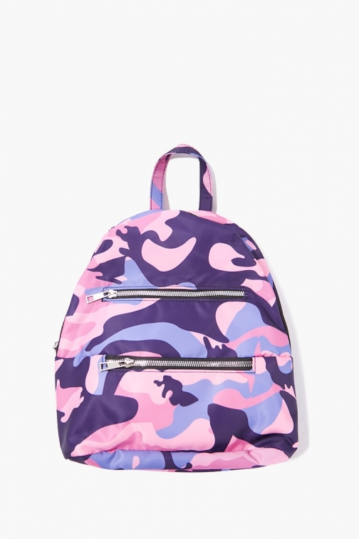 Forever21 Camo Print At Forever 21 , Pink/multi Backpack