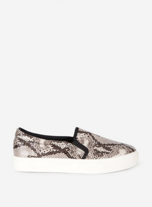 Dorothy Perkins Multi Colour 'Ivy' Snake Print Trainer