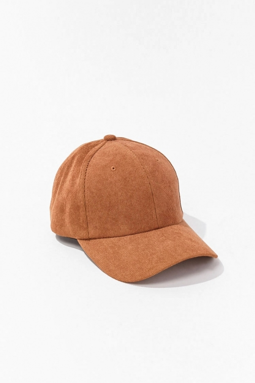 21 Men Corduroy Baseball At Forever 21 , Brown Cap