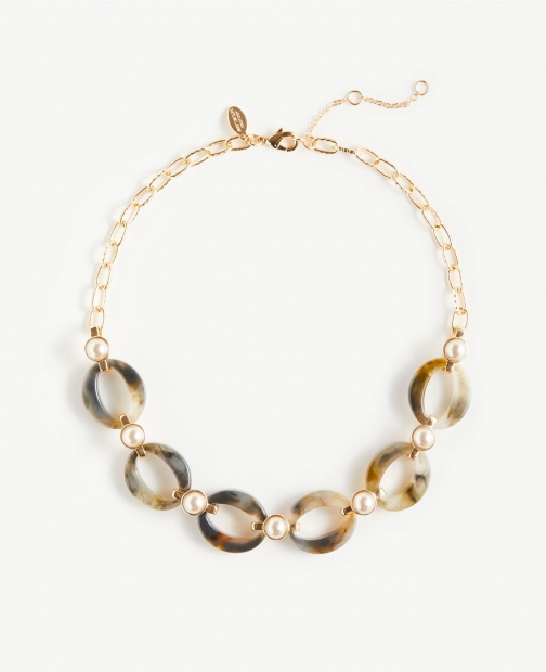 Ann Taylor Link Statement Necklace