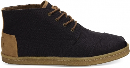 Toms Black Heritage Canvas Mens Bota - Size UK8.5 / US9.5 Boot
