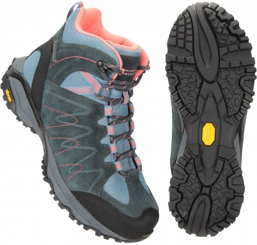 Mountain Warehouse Rockies Waterproof Womens Vibram - Blue Boot