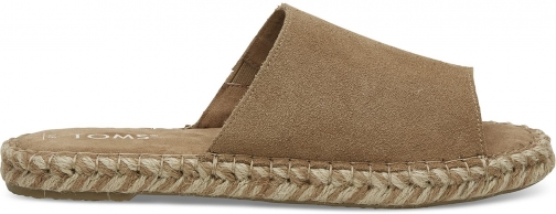 Toms TOMS Brown Suede Women's Clarita Espadrilles Shoes - Size UK8 / US10 Espadrille