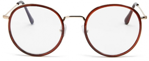 Forever21 Forever 21 Round Contrast Readers , Burgundy/clear Eyewear