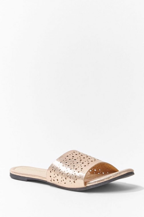Forever21 Forever 21 Geo Cutout , Rose Gold Sandals
