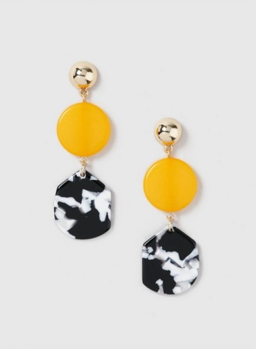 Dorothy Perkins Yellow Resin Drop Earring