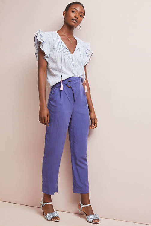 Anthropologie Cupro Wrap Trousers Trouser