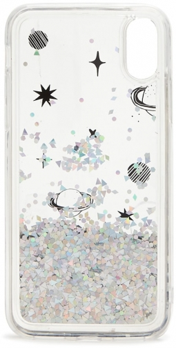 Forever21 Forever 21 Waterfall Phone For IPhone X/XS , Clear/silver Case