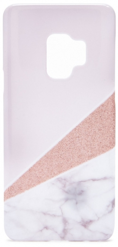 Forever21 Forever 21 Pattern Block For Galaxy S9 Phone Pink Case