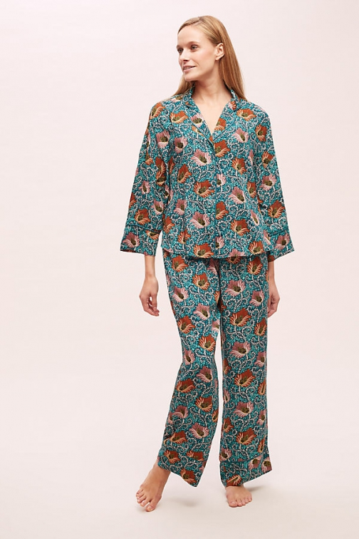 Anthropologie Paloma Printed Sleep Trousers Trouser