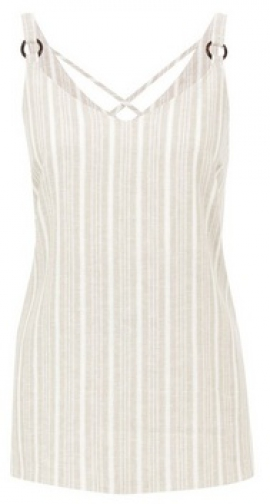 Dorothy Perkins White Strap Camisole Top With Linen Ring