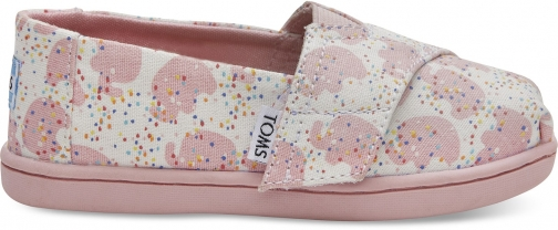 Toms Pink Elephant Sprinkles Tiny TOMS Classics Slip-On Shoes