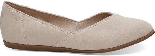 Toms Pink Suede Women's Jutti Shoes Flats