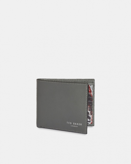Ted Baker Printed Leather Bifold Wallet
