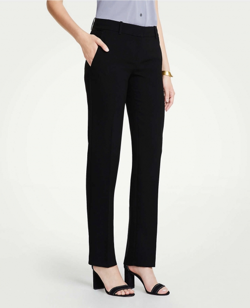Ann Taylor The Straight Pant Doubleweave - Curvy Fit Suit
