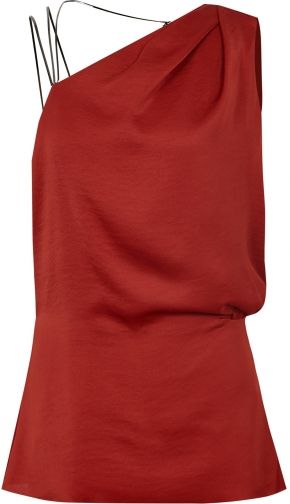 Reiss Adalee - Strappy Back Top Red, Womens, Size 12 Shirt