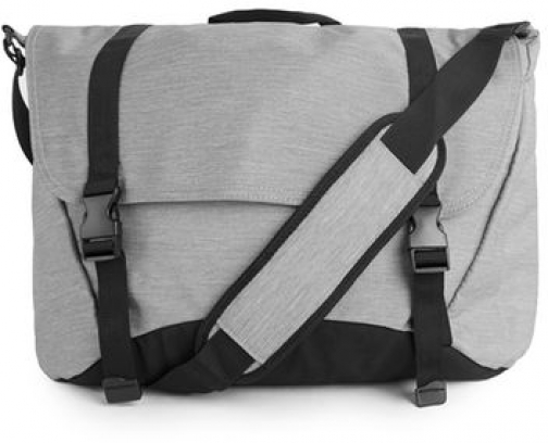 Topman Mens Light Grey And Black Nylon Side , Grey Satchel